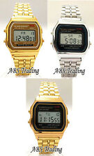 Small 33mm Children's Ladies Classic Retro Vintage Gold Silver Digital  Watch