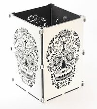 Sugar Skull Candle Holder, Light Box, Day Of The Dead, Candle Box