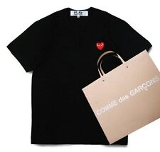 NEW 4 Sizes BLACK 2015 COMME DES GARCONS CDG PLAY SMALL RED HEART T-SHIRT