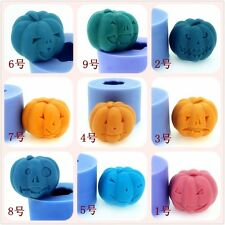 Nicole Halloween 3D Pumpkin Silicone Soap Candle Crafts Molds DIY Candle Moulds