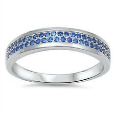 Blue Sapphire CZ Ring, 925 Sterling Silver, Heaven, September Birthstone, Girly