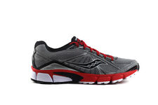 Saucony Men's GRID IGNITION 4 Shoes NEW AUTHENTIC Grey Black Red 25169-1