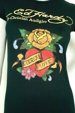 NWT ED HARDY by CHRISTIAN AUDIGIER BLACK T SHIRT ETERNAL LOVE