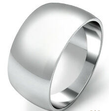 925 Sterling Silver Womens Mens 12mm D Shape Wedding Band Ring  All Sizes