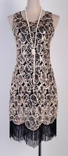 1920's Flapper Party Gatsby Downton Abbey Sequin Tassel Plus Size Dress RD 3239