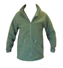 BRITISH ARMY OLIVE GREEN COLD WEATHER FLEECE - GRADE 1 USED GENUINE - ALL SIZES