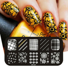 New Stainless Steel UV Gel Polish Manicure Art Small Size Nail Stamp Template