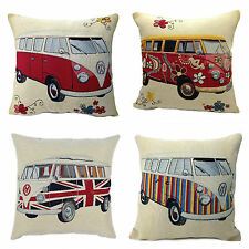Tapestry Camper Van Cushion Cover, 4 Designs to Choose From, Made In UK