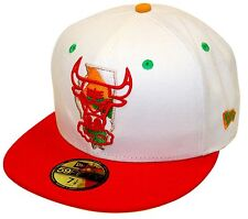 New Era 59Fifty Hare Chicago Bulls White Red Fitted Windy City Air Jordan 7 Hare
