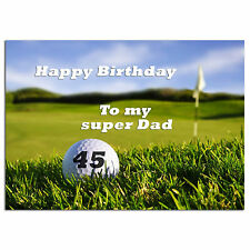 675; Golf sport, game; Personalised greeting card; large a5; best special great