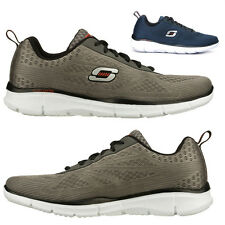 Mens Skechers Equalizer Memory Foam Lightweight Lace Up Running Trainers Shoes