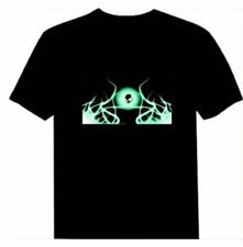 Sound Activated Flashing T-shirt Light Up & Down LED T-shirt Party Bar Pub