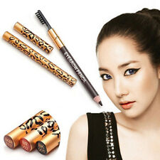 Leopard Lady Eyebrow Waterproof Black Brown Pencil With Brush Make Up Eyeliner