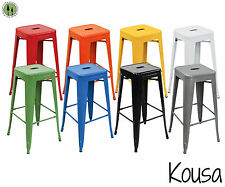 2 Tabouret Vintage Style Counter Stools + Metal Stackable Bar Stool + 30 inch