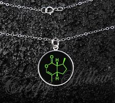 Sterling Silver Small Pendant Choose Your Molecule Chemistry Necklace