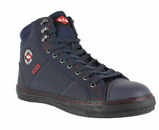 Lee Cooper 022 Unisex Navy SB Steel Toe Safety Retro Style High Hi Tops Boots