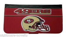 SAN FRANCISCO 49ERS SAMSUNG GALAXY iPHONE CELL PHONE CASE LEATHER COVER WALLET