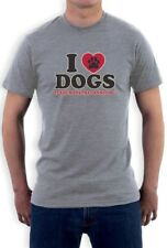 I Love Dogs It's Humans That Annoy me Funny T-Shirt Pet Puppy Animal Heart Paw