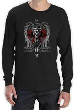 Biker Death Skull Sword Dragon Tattoo gothic clothing  Long Sleeve T-Shirt Small