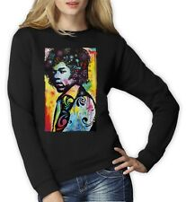 Jimi Hendrix Neon Rainbow Graphic Fan Rock Tee music  Women Sweatshirt Fashion