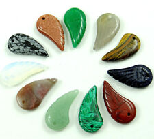 Beautiful Hand-carved the Angel Wings mixture agate PENDANT GEMSTONE LOOSE BEADS