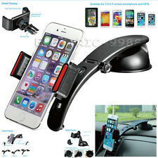3 in1 Car Air Vent Windshield Dashboard Mount Holder For Mobile Phones GPS Black