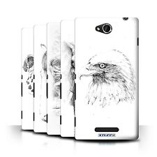 STUFF4 Back Case/Cover/Skin for Sony Xperia C/C2305/Sketch Drawing