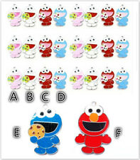 Lot Cartoon eat cookie monster Charms pendants DIY Jewellery Making crafts 2.6cm