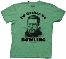 Adult Green The Big Lebowski Walter I'd Rather Be Bowling Heather T-shirt Tee