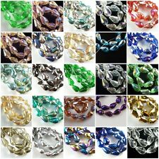 50pcs Teardrop Glass Crystal Faceted Beads Spacer Craft Jewelry 10x15mm Charms