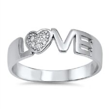 Pure Love CZ Ring, 925 Sterling Silver, Comfort Fit, Valentines, w/Free Gift Box