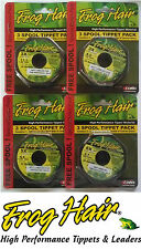 Frog Hair FlyFishing Monofilament Tippet - 3 Pack of 30 Meter Spools - All Sizes