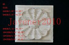 H3 Wood Carved Square Onlay Applique Unpainted Frame Furniture Door 1/2/4/10 PCS