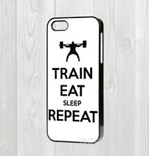 Made for iphone 4 5 5C 6 6 + cas-TRAIN Exercer Gym motivation Corps Bâtiment
