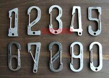 Outdoor EDC Stainless steel Lucky numbers Snap hook belt clip key chain ring