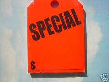 .CAR DEALER 50 REAR VIEW MIRROR HANGING CARDS TAGS Special / orange