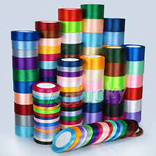 1 Roll 25 Yards 6mm to 50mm Satin Ribbon Roll Bow Wedding Party Craft Decoration