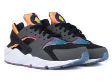 NIKE AIR HUARACHE RUN SD RAINBOW BLACK PINK POW NEON VOLT TOUR YELLOW 724764 005