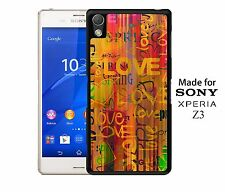 Vintage Retro Style Love Heart Theme Phone Case Cover for Sony Xperia Z3
