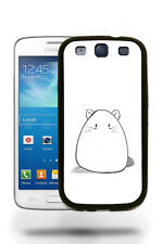Cute Hamster Mouse Sketch Drawing Case Cover Samsung Galaxy S3 S4 S5 Note 2 3 4