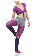 SHINYS® WRAP TOP SHIRT WITH ARMS BALLET RUNNING YOGA FITNESS GYM RSG LYCRA 11262