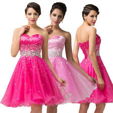 PINK PRINCESS STYLE Short Graduation Party Evening Prom Gown Bridesmaid Dresses
