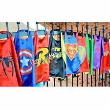 Double side 70CM superhero capes for kids Birthday Party Children Gift