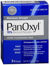 Panoxyl BAR Acne SOAP 4oz 10% Benzoyl Peroxide FREE SHIPPING