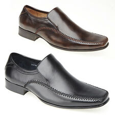 Mens Leather Lined Formal Slip On Shoes New Office Smart Casual Shoes