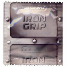Caution Wear Condom Iron Grip Small Snugger Fit Latex Lubricated Condoms