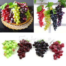 NEW Lifelike Artificial Grapes Plastic Fake Fruit Food Home Decor Decoration