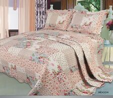 Bedspread Comforter set 3 Pieces Patchwork Quilted Single Double King Superking