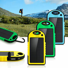 5000mah  Portable Solar Panel Power Bank External Battery Charger For Cell Phone