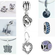 New Authentic European Flower Heart 925 Sterling Silver Charms Bead For Bracelet